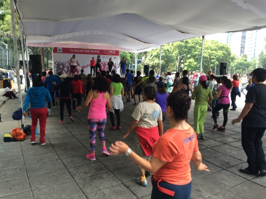 11 de septiembre 2016. Actividad Dominical de fomento de la salud. Ciudad de México.